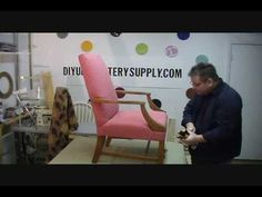 This is one in a series on this website. Ive always wanted to take an upholstery class and couldnt find one locally.  This looks like a good instructional video series.....and I have this exact chair in my garage ;0)