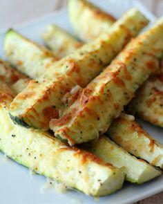 Calabacín al horno con queso parmesano - Blog de cocina sana: Dietas para bajar de peso