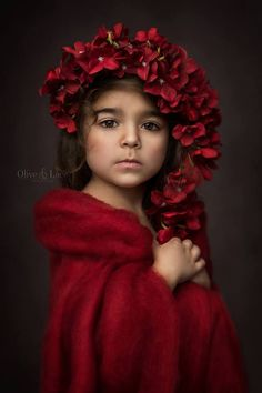 Children Portraits by Yunet Holmes - The Portrait Masters Photography Awards - Sue Bryce Education - kid photography, studio kid set up, photo shoot ideas for children, studio pictures for children, little girl wearing red dress with red flower head dress Photography Essentials, Photography Awards, Children Photography, Fine Art Photography, Portrait Photography, Photo Bb, Kind Photo, Jolie Photo, Beauty And Fashion