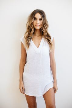 Salt Swimwear 2016 || Alexa tunic in white