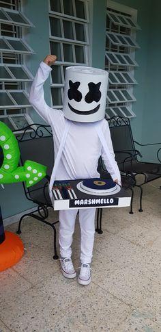 Marshmello diy costume kids