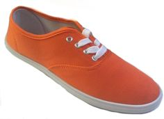 Amazon.com: Shoes 18 Womens Canvas Shoes Lace up Sneakers #WeWearOrangeShoes