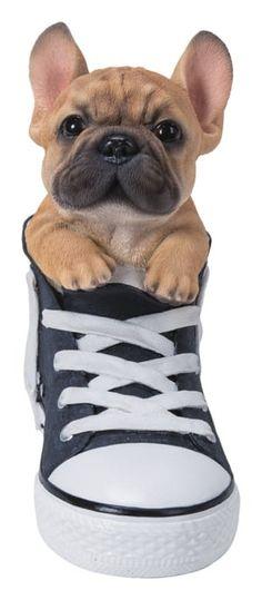 French Bulldog Puppy Image Metal Chunky Keyring in Gift Box
