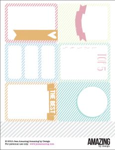 Free Printable Pastel Journal Cards for Project Life from Amazing By Design Templates Printable Free, Printable Labels, Printable Cards, Free Printables, Project Life Album, Project Life Cards, Life Journal, Journal Cards, Paper Bag Books