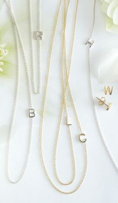 Love these sweet initial necklaces http://rstyle.me/n/f3d88nyg6