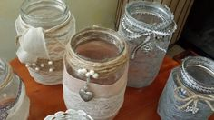 Diy jar with lace
