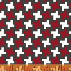 Lily Gonzalez - Farm to Fork - Houndstooth - Red : Sew Modern