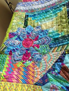 Quilting Together: Kaffe Fassett Quilt Bright Quilts, Colorful Quilts, Quilt Stitching, Applique Quilts, Watercolor Quilt, Dresden Plate Quilts, Cute Quilts, Flower Quilts, Contemporary Quilts