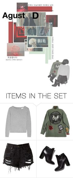 """Agust D' Agust D'"" by mintaeyeolse ❤ liked on Polyvore featuring art"