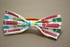 Colorful Wheat Print Bow Hair Band by LittlePeachFuzz on Etsy, $3.00
