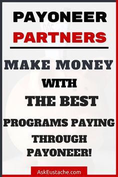 Find the best programs to make money online that pay through payoneer. Payoneer is a free debit MasterCard available worldwide to receive payments. Find jobs, afiliate programs, ad networks and marketplace that pay via Payoneer. >> http://askeustache.com/make-money-online-payoneer-partners-sites-low-minimum-payment/