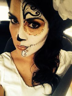 day of the dead half face paint google search - Halloween Day Of The Dead Face Paint