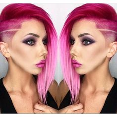 Beautiful pink color and extension work by hair and makeup artist @lortlemoine. She is also the model! Starburst fade cut by @fadedinc #hotonbeauty @hotonbeauty Hot Beauty Magazine #arcticfoxhaircolor #virginpinkhair #featurepage #fadecut