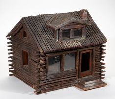 Mini Cabins, Cabins And Cottages, Log Cabins, Log Cabin Kits, Faux Brick, Le Far West, Country Style Homes, Miniature Houses, Fairy Houses