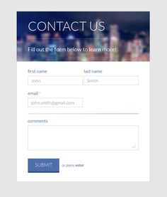 25 High Quality Contact Form Tutorials in HTML and CSS ...