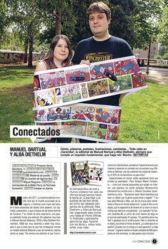 """Entrevista a Manuel Bartual y Alba Diethelm para la sección """"Conectados"""" del suplemento de El País On Madrid."""
