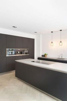 There is a lot of people today, tend to have modern kitchen design ideas for their new house. However, there is a lot of things that you need to know before creating modern kitchen design. Kitchen Buffet, Home Decor Kitchen, Kitchen Furniture, New Kitchen, Kitchen Cabinets, Gray Cabinets, Kitchen Paint, Furniture Stores, Cupboards