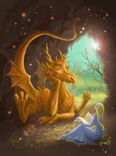 Illustration about Dragon and princess. Illustration of princess, brick, cartoon - 27991669 Fire Dragon, Dragon Art, Fantasy Kunst, Fantasy Art, Fantasy Books, Fantasy Creatures, Mythical Creatures, Animation Photo, Dragon Pictures