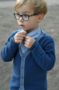 Small Style from Paul and Paula! How handsome does this little one look in our Frank cardigan!