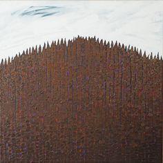 """Halny"" - 2015 / olej / 100 x 100 cm"