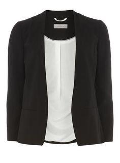 Petite Black Longline Jacket