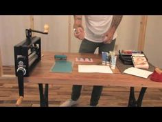 Urban Outfitters DIY demonstration — block printing