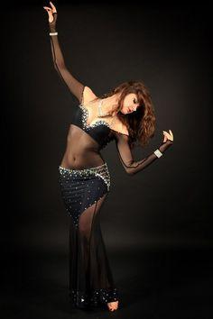Black belly dance costume