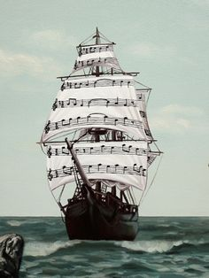 Surreal Paintings: Music Notes l I Saw 3 Ships Come Sailing In Music Is Life, My Music, Trucage Photo, Mundo Musical, Surrealism Painting, Music Pics, All About Music, Music Quotes, Classical Music