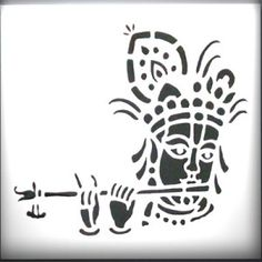 Krishna Art Cart, Silhouette Stencil, Stencil Designs, Ganesha Art, Indian Folk Art, Glowing Art, Art, Folk Art Painting, Krishna Art
