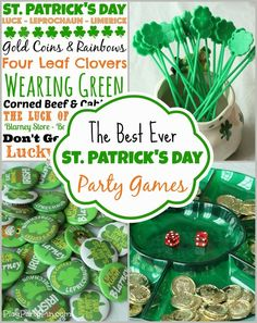 Awesome St. Patrick's Day party games and ideas from playpartypin.com