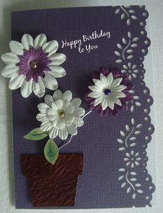 Card Making ideas - Paper Flowers - Card and Scrapbooking Supplies NZ
