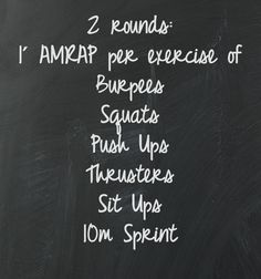 Crossfit WOD. Remove thrusters and this one can be a home WOD!