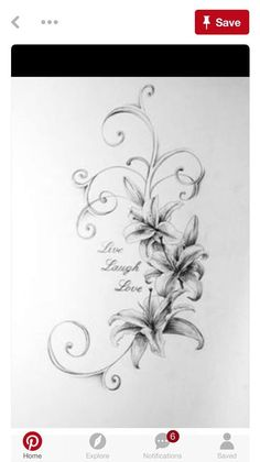 Five Reasons You Should Fall In Love With Lily Flower Tattoo Drawing Lilly Flower Tattoo, Lillies Tattoo, Flower Tattoo Drawings, Flower Tattoo Designs, Flower Tattoos, Sketch Tattoo, Lily Tattoo Design, Lilly Flower Drawing, Mom Tattoos