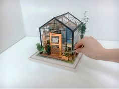 Dollhouse Kits, Dollhouse Miniatures, Wooden Dollhouse, Diy Music Box, Music Boxes, Mini Things, Cool Things To Buy, Lantern String Lights, Puzzle Box