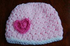 Heart Crochet Hat Free Pattern