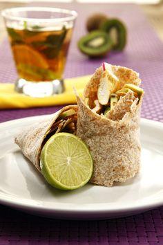 Leziz Meksika yemeği Burritos..