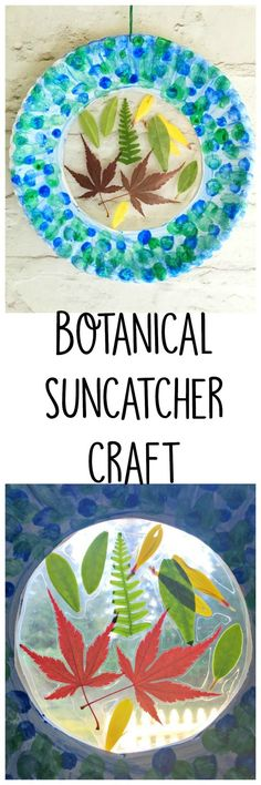 Suncatcher craft for kids with paper plates and leaves Botanical Sun catcher Craft for Kids - Crafty Little Gnome Summer Crafts, Fall Crafts, Kids Suncatcher Craft, Preschool Crafts, Crafts For Kids, Projects For Kids, Art Projects, Paper Plate Crafts, Paper Plates