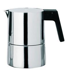 Alessi 3 Cup Espresso Coffee Maker by Piero Lissoni