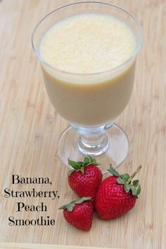 Banana, Strawberry and Peach Smoothie Recipe from 5DollarDinners.com