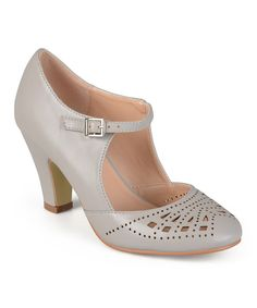 Look at this Journee Collection Gray Elsa Buckle Pump on #zulily today!