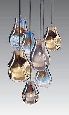 Euro Nouveau: Soap from Bomma - SA Decor & Design Interior Lighting, Home Lighting, Chandelier Lighting, Modern Lighting, Lighting Design, Chandeliers, Blown Glass Pendant Light, Pendant Lamp, Blown Glass Chandelier