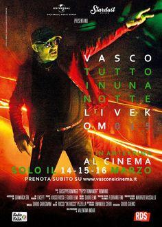 Dal 14 al 16 marzo 2016 Vasco Rossi è al cinema con il live partenopeo alo Stadio