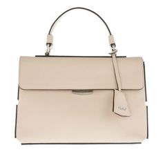 Abro Tasche – Baltimora Leather Satchel Bag Beige – in beige – Henkeltasche für Damen