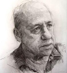Colin Davidson 2012 crayon on paper 62 x 57 cm