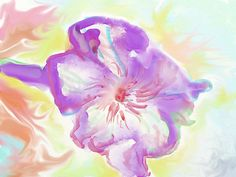 The morning glory flower, expressionism, digital watercolour, Chinese watercolour