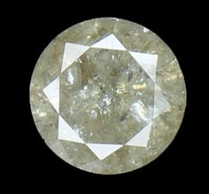 6.70 MM 1.25 Ct Natural Loose Diamond Cut Round Shape Grey Color L8031