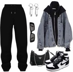 Vintage Outfits, Retro Outfits, Aesthetic Grunge Outfit, Aesthetic Clothes, Streetwear Mode, Streetwear Fashion, Teen Fashion Outfits, Edgy Outfits, Prep Fashion