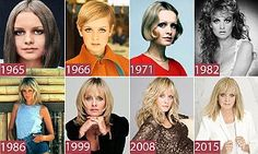 At 16 she became the face of the 1960s. At 65, model and Marks & Spencer designer Twiggy has been named as the latest ambassador for L'Oreal. Here she charts her hairstyle history.