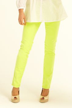 i want fluorescent yellow pantsss