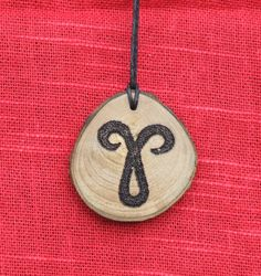 Zodiac Horoscope Astrology star signs symbols elements fire earth air water wooden wood slice pendant by ABurningAmbition on Etsy